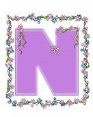 Alphabet Daisy Fair Lilac N