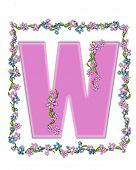 Alphabet Daisy Fair Pink W