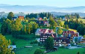 Summer Morning Mountain Village View (poland)