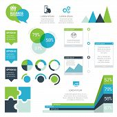Modern set of business infographic vector elements