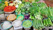 At Food Market In Vietnam