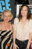 Tippi Hedren and Lesley Ann Warren at the Los Angeles Premiere of 'Gotta Dance'. Linwood Dunn Theatr