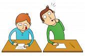 Cheating Student