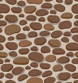 Seamless Cartoon Rock Stone Background For Design And Decorate