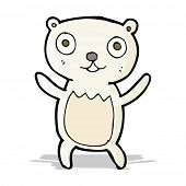 cartoon polar bear cub