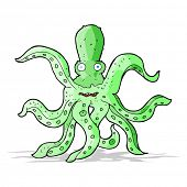 cartoon giant octopus