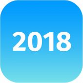 Year 2018 Blue Icon