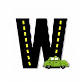 Alphabet Transportation By Road W