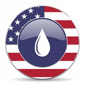 water drop american icon