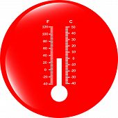 Thermometer Web Icon Button