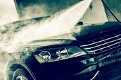 picture of pressure-wash  - Car Wash Closeup - JPG