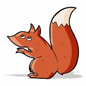 cartoon red squirrel