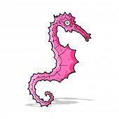 cartoon sea horse