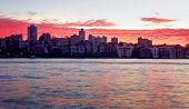 Red Dawn Sky Over Kirribilli, Australia