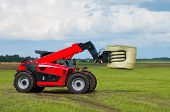 Red Telescopic Handler