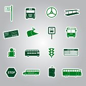 bus transport stickers eps10
