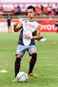 Sisaket Thailand-june 29: Anthony Ampaipitakwong Of Bangkok Utd. In Action During A Training Ahead T