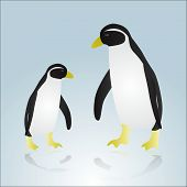 two penguins eps10
