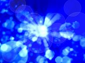 Blue Radial Abstract Background