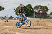 Motocross With Si Piaggio Moped