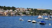 pic of dartmouth  - Dartmouth town by the river Dart in Devon - JPG