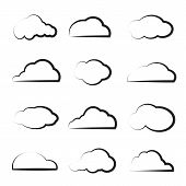 Vector Group Of Clouds