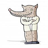 cartoon wolf man