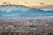 Turin (torino), Panorama With Olympic Arch, Tilt-shift Effect