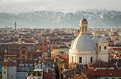 Turin (torino), view with Snowy Alps
