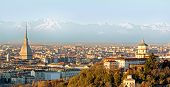 Turin (torino), Panorama With The Alps