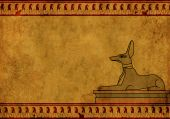 pic of anubis  - Background with Egyptian god Anubis image - JPG