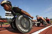 Wheelchair Track Race Men Athletes