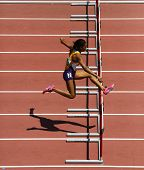 Track Woman Hurdles Run