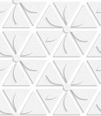White Flowers And Triangles Seamless