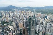 View of downtown Shenzhen city in China