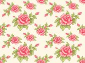 Background Illustration Featuring a Seamless Floral Design