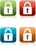 Padlock Security Icons