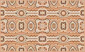 stock photo of aborigines  - A illustration based on aboriginal style of dot painting depicting pattern - JPG