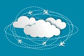 Abstract Background With Planes And Clouds, Infographic
