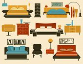 Bedroom Furniture and Accessories - Modern bedroom furniture, including beds, day bed, night stands,