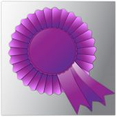 Purple rosette badge