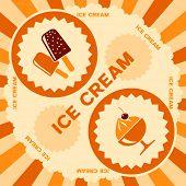 Ice cream label design