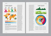 Business magazine, Infographics, Vector