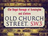 Retro Look Street Sign