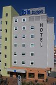 VALENCIA, SPAIN - JUNE 29, 2014: An Ibis Budget Hotel in Valencia. Ibis Budget is an international c