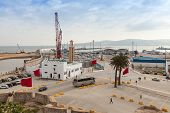 Tangier, Morocco - March 22, 2014: New Passenger Terminals Under Construction In Port Of Tangier, Af