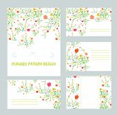 Branding design with floral pattern - banner card templates