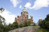 Uspenski Cathedral On Rock In Helsinki