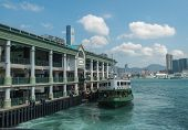 HONGKONG -SEPTEMBER 8 2013: Hong Kong ferry is in operation in Victoria harbor for more than 120 yea