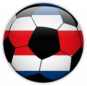 Costa Rica Flag With Soccer Ball Background